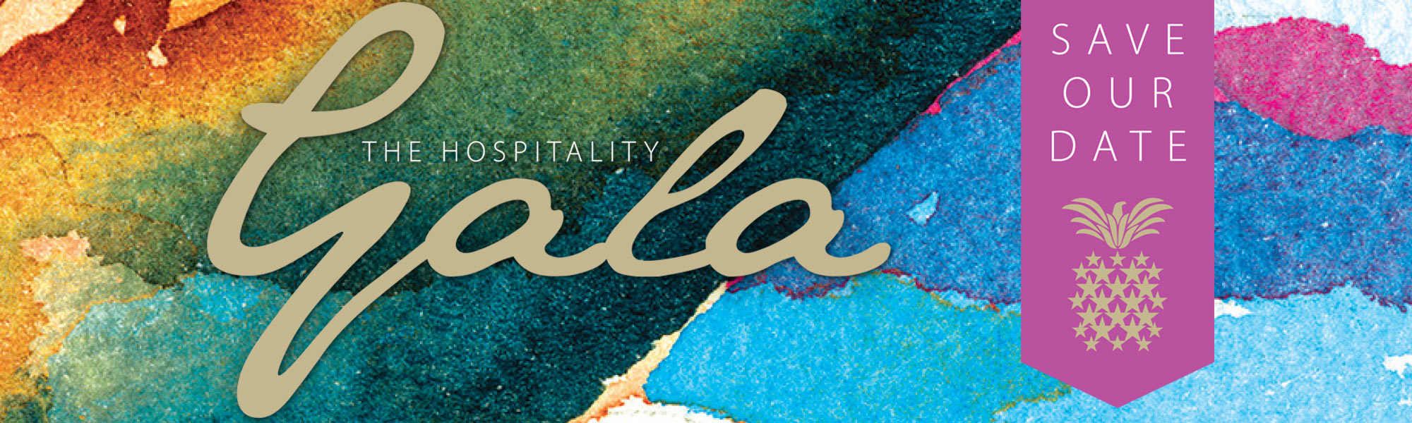 Hospitlaity Gala Water Colors Save the Date Header